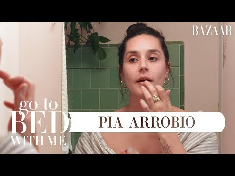 Pia Arrobio&39;s Nighttime Skincare Routine  Go To Bed With Me  Harper's BAZAAR