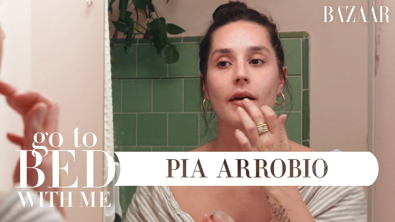 Pia Arrobio's Nighttime Skincare Routine | Go To Bed With Me | Harper's BAZAAR