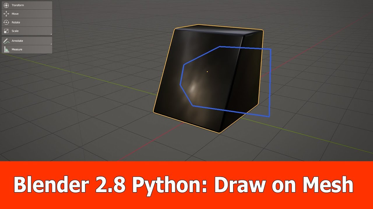 Blender 2 8 tutorial : Draw on Mesh with Python