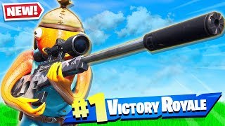 FORTNITE *NEW* SILENCED SNIPER GAMEPLAY! (New Battle Royale Weapon)