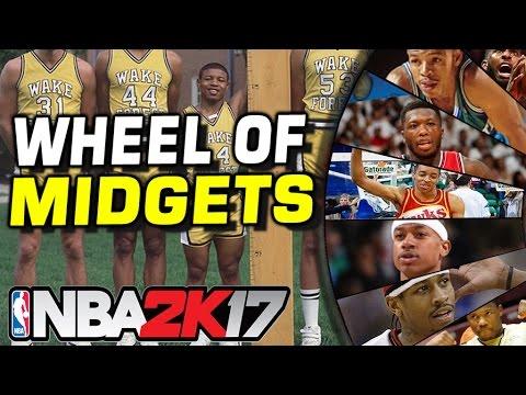 WHEEL OF NBA MIDGETS