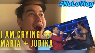 CRYING TO JUDIKA + MARIA's NEVER ENOUGH | INDONESIAN IDOL 2018 | Live Reaksi | NoLo Vlog