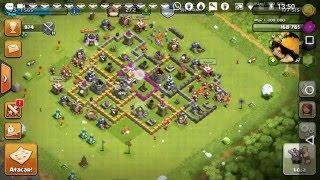 Clash Of Clans - Testando novo Layout Centro da Vila nível 7 na Defesa
