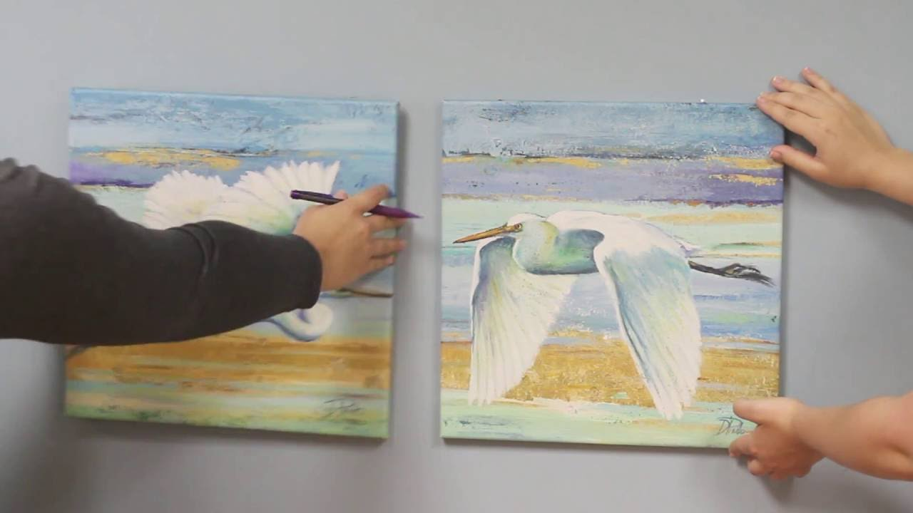 How to hang canvas artwork youtube Hang up paintings without nails