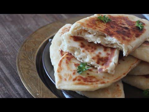 pain-indien-à-la-poêle-,-#cheesenaan-#naan-au-fromage