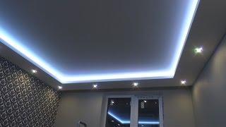 видео 2х уровневый потолок из гипсокартона: фото-инструкция, монтаж