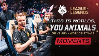 This Is Worlds, You Animals | G2 vs FPX - Worlds Finals