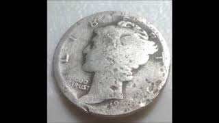 1919 Mercury Dime Doubled Die Obverse! Rare and very Valuable!!!!