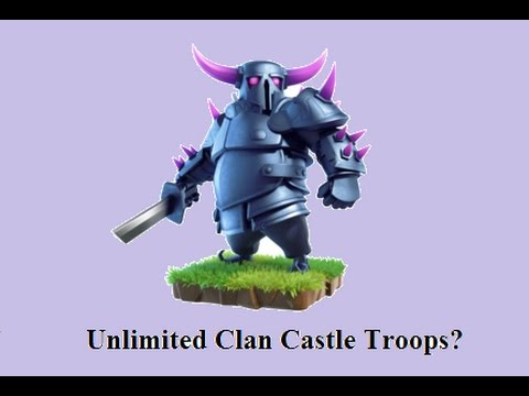 Clash Of Clans: New Glitch: More Clan Castle Reinforcements + Tutorial