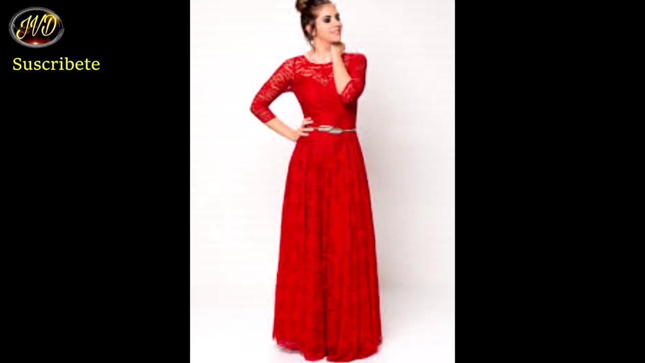 Vestidos Largos Elegantes Bonitos Moda Cristiana Evangélica Diseños 2019