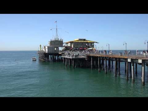 santa monica pier shot with 4K HD camera