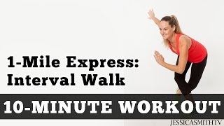 1 mile express interval walk low impact cardio you can do at home in a small space