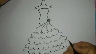 Cómo dibujar un vestido de novia