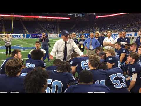 Hear Mona Shores coach Matt Koziak's postgame speech to his team 2018 state finals loss to Warren...