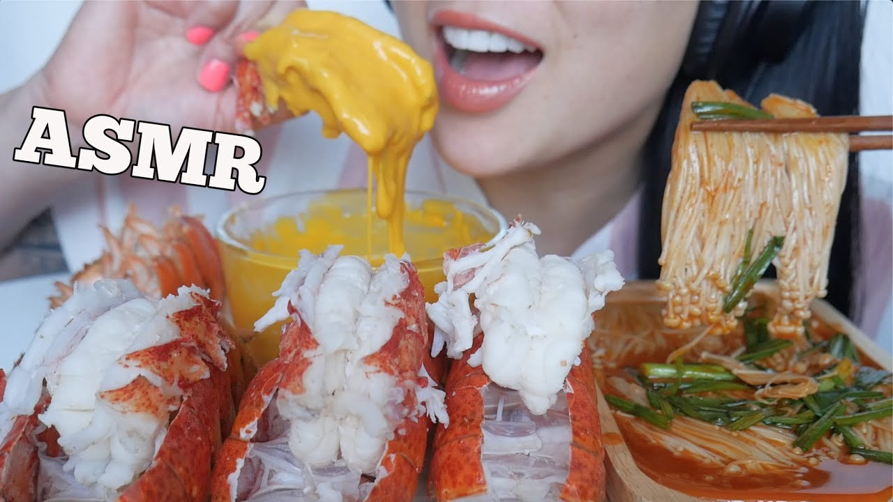 Asmr Lobster Tails Cheese Sauce Spicy Enoki Mushrooms Eating Sounds Sas Asmr Youtube Return sauce to heat and bring to a boil, stirring constantly. asmr lobster tails cheese sauce spicy enoki mushrooms eating sounds sas asmr