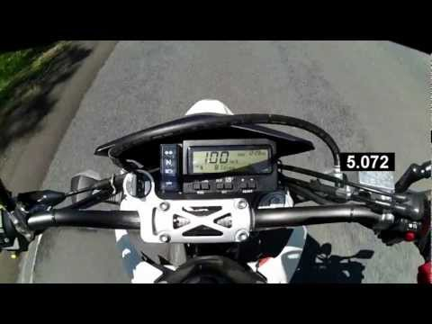 DRZ400 0-100 (60mph) acceleration - YouTube