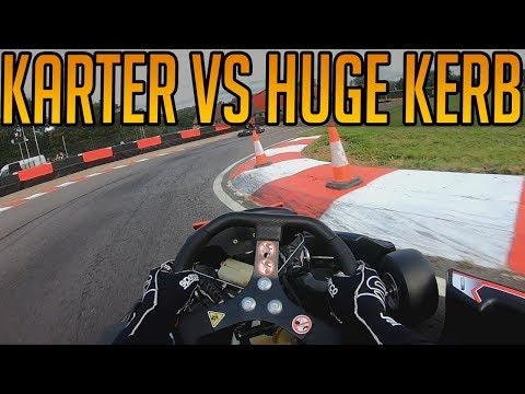 Kart Racing Against The Hugest Kerb