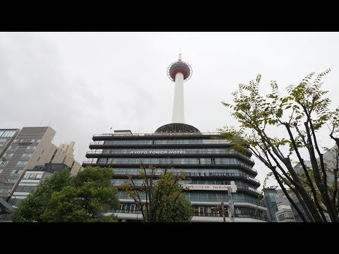 【4K】Walking from Kyoto station to Kiyomizudera way on a rainy day