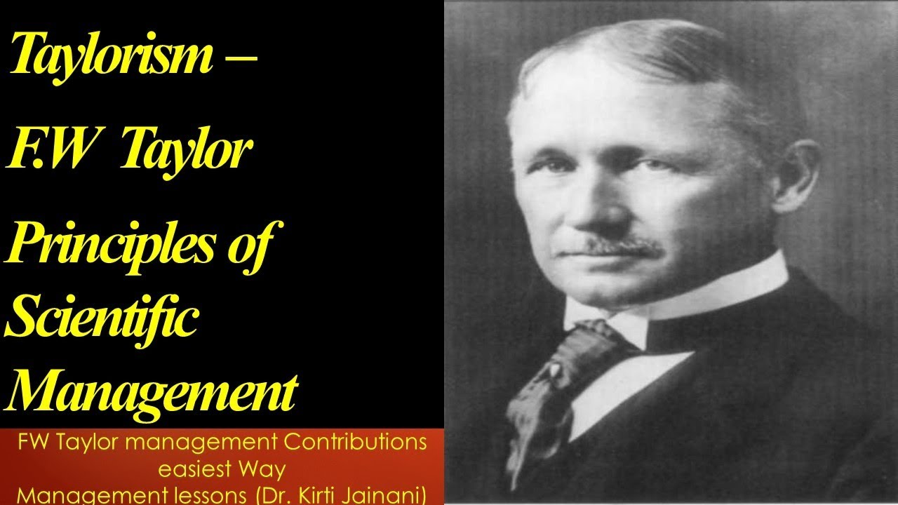 contribution of frederick taylor in management