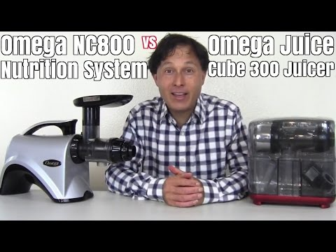Omega NC800 Juicer vs Omega Juice Cube Comparison Review