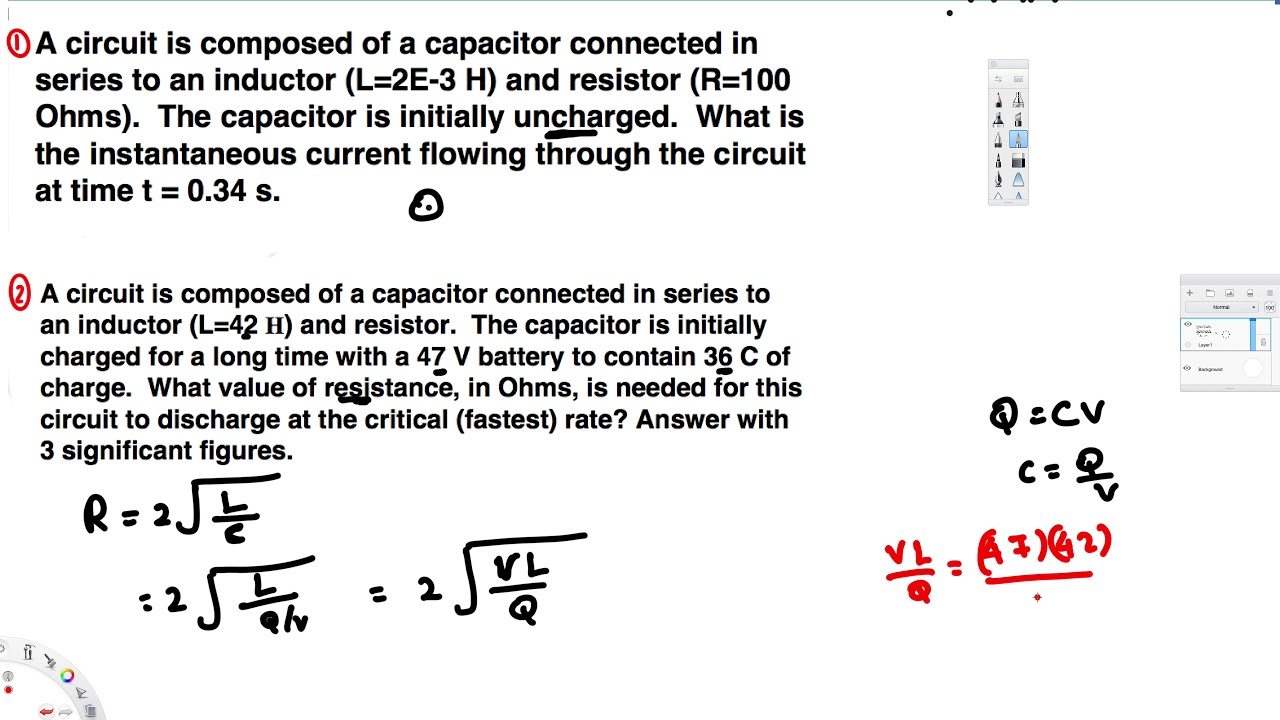 What Value Of Resistance In Ohms Is Needed For This Circuit To Capacitor Discharging Discharge At The Critical Fastest