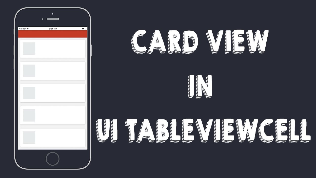 Card View in UITableViewCells (Xcode8 , Swift3)