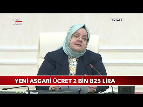 2021 Yılı Yeni Asgari Ücret Net 2 Bin 825 Lira