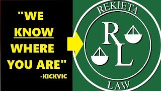"""""""HERE'S HIS ADDRESS"""" KICKVIC POSTS REKIETA LAW'S BUSINESS ADDRESS! FAMILY Noted!"""