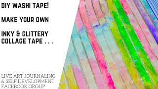 DIY Washi: Make Your Own Colorful & Inky Collage Tapes!