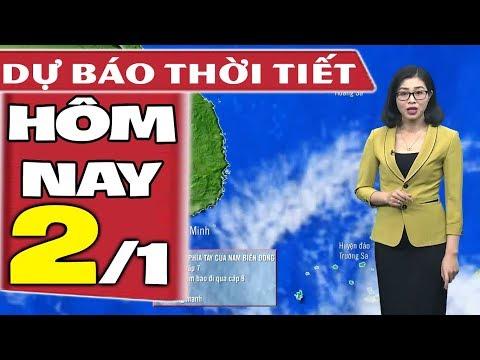 Dự báo thời tiết hôm nay mới nhất ngày 2/1 | Bão Số 1 | Dự báo thời tiết 3 ngày tới