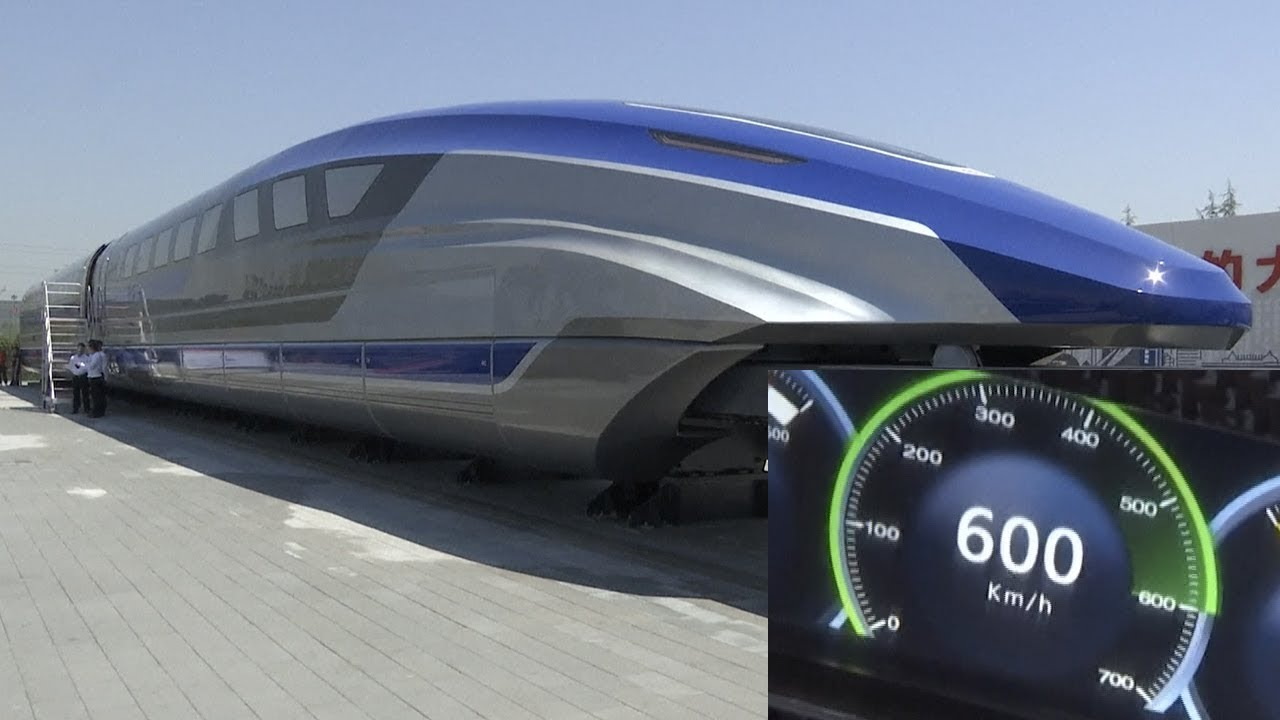 Download China's 600 km/h maglev train prototype