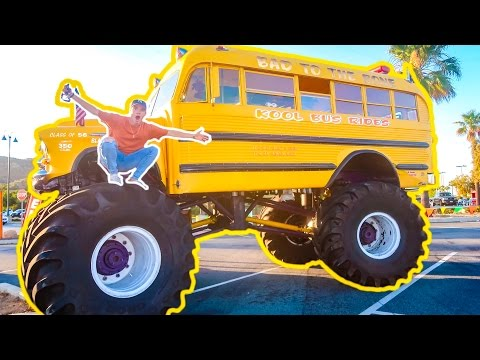 MONSTER SCHOOL BUS DRIFTING!!!