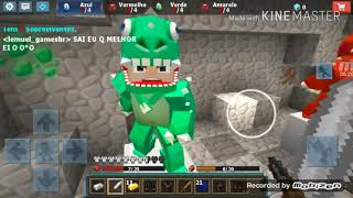 Jogando egg wars (block mods/egg wars)