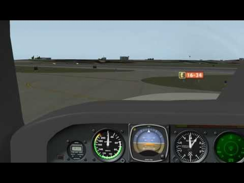 X-plane Piper Malibu Taxi and Takeoff
