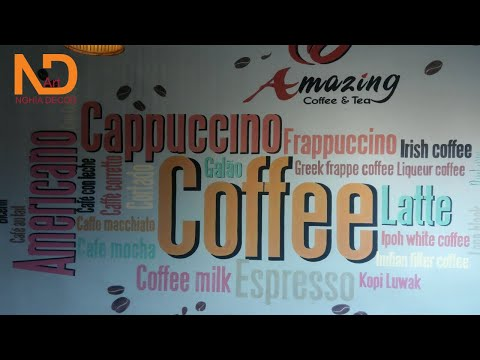Dịch vụ vẽ tranh tường quán trà sữa chuyên nghiệp tại tphcm   NGHIADECOR ART #14