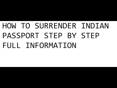 How To Surrender Indian Passport Step By Step Full Information