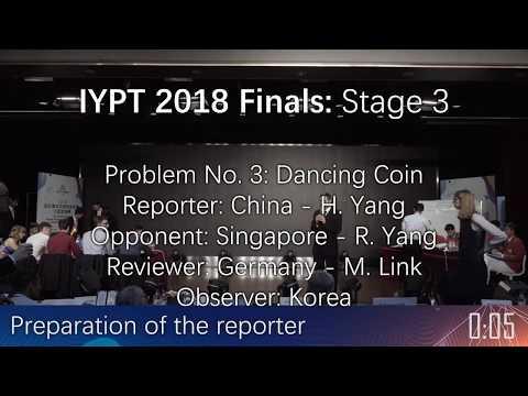 IYPT 2018 Finals - Stage Three