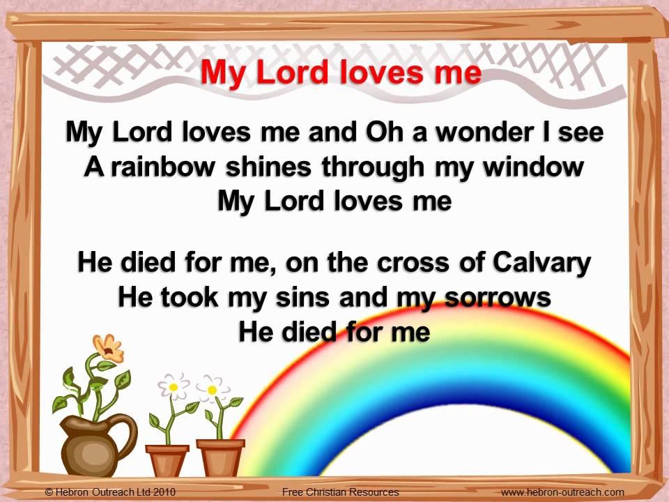 Lyric my god and i lyrics : My Lord Loves Me - Chorus - hebron-outreach.com - YouTube