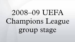 2008–09 UEFA Champions League group stage