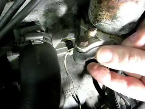 Engine Coolant Temperature Sensor Remove and Replace updated - YouTube