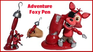 FNAF WORLD | Adventure Foxy Pen Polymer Clay Tutorial | Collaboration with ArtzieRush
