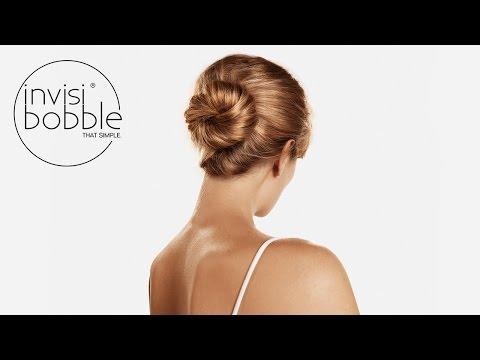pretty ballerina bun - medium invisibobble hair tutorial by Denise Bredtmann