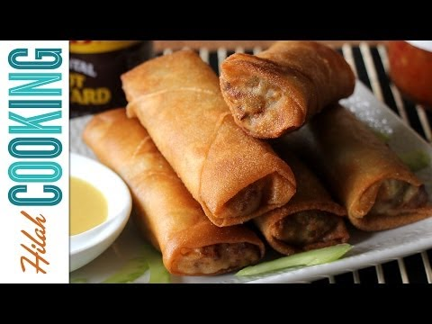 How to Make Egg Rolls Recipe   Hilah Cooking