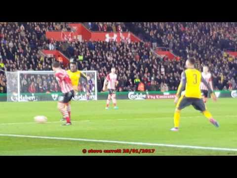 Southampton 0 - 5 Arsenal in FA Cup 4th Round 28th Jan 2017