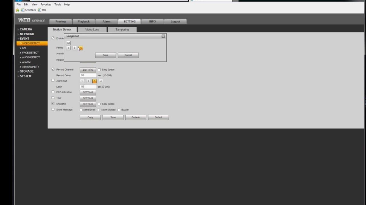 NVR/Recording Setup/Motion Record - Dahua Wiki