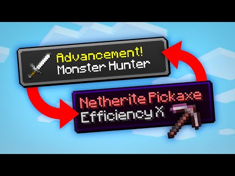 Minecraft, But Advancements Give OP Items... - Silver