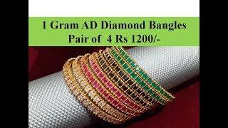 1 Gram Gold AD Diamond Bangles Shopping in Coimbatore | Shopping haul Coimbatore | 1 Gram gold