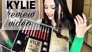 Review video KYLIE Holiday Edition Box/Распаковка и обзор косметики Kylie/ + свотчи (with SWATCHES)