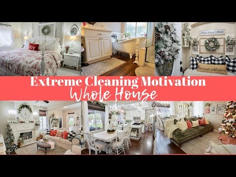 NEW! WHOLE HOUSE CLEANING | EXTREME CLEANING MOTIVATION | ENTIRE HOUSE CLEAN WITH ME