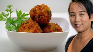 Thai Crispy Fried Prawn Balls (Thai Crispy Prawn Recipe) Asian Buffet Recipe